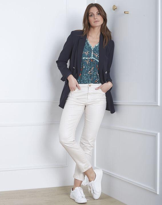 Beigefarbene, schimmernde Slim-Jeans Capucine (1) - Maison 123