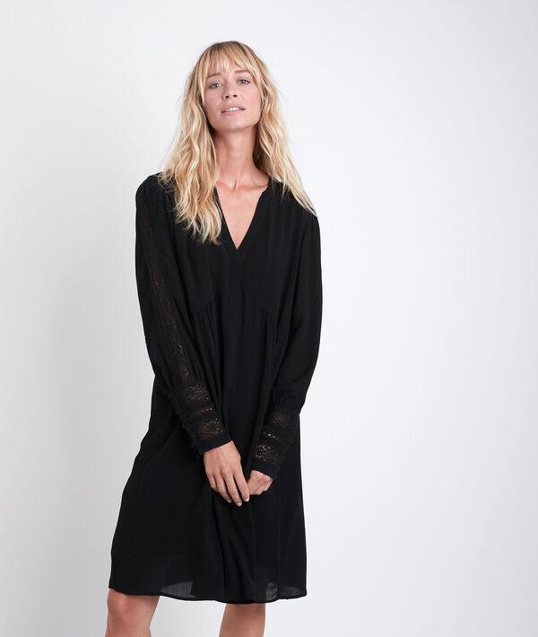 Robe noire à dentelle Calypso PhotoZ | 1-2-3