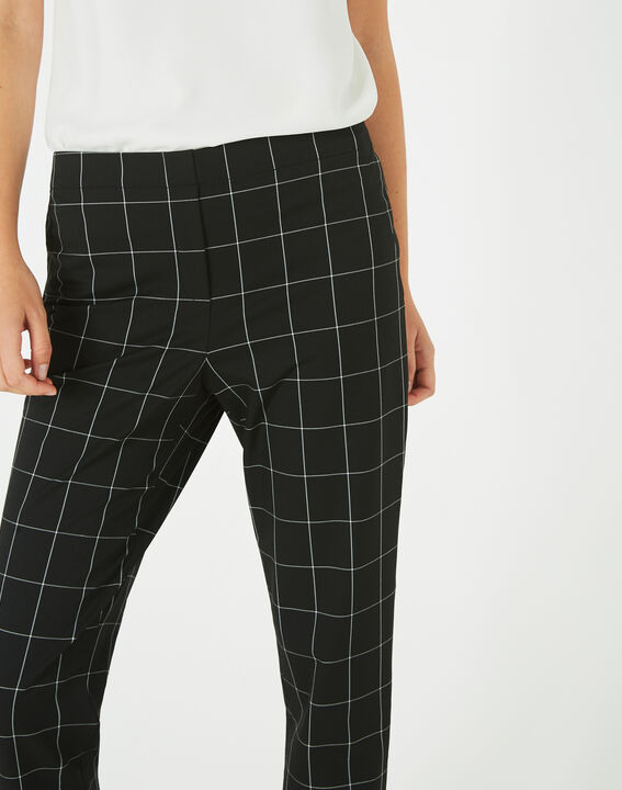Voltage black and white check tailored trousers PhotoZ | 1-2-3