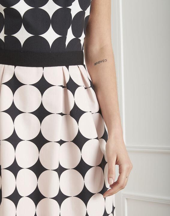 Robe noir & blanc imprimé pois Hisis (3) - Maison 123