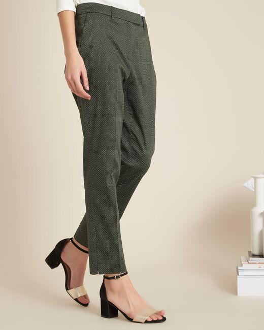 Rubis khaki printed tapered trousers (2) - 1-2-3