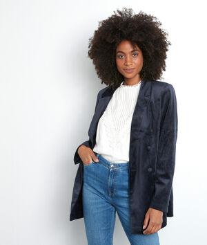 L'iconique blazer Florine en velours bleu marine