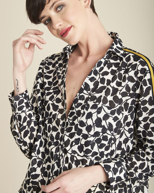 Cathleen white shirt with leaf print (1) - 1-2-3