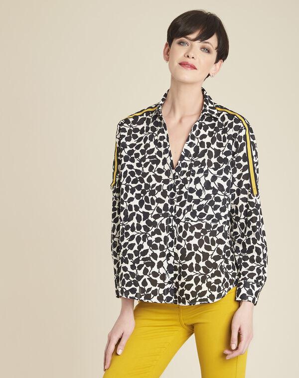 Wit hemd met blaadjesprint Cathleen (2) - 37653