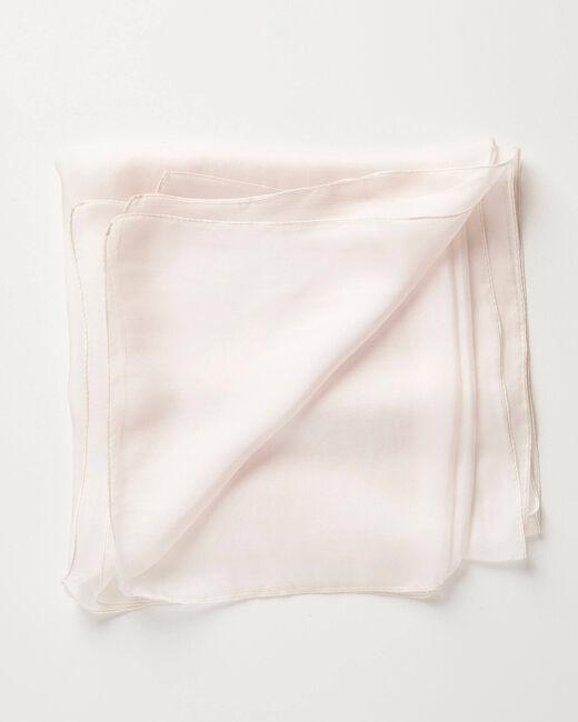 Foulard en soie nude uni Alice (2) - 1-2-3