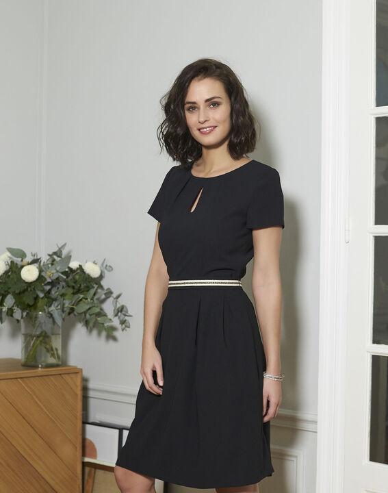 Zwarte straight-fit jurk Natalia PhotoZ | 1-2-3