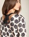 Nudefarbenes Kleid mit Blumenprint Ideal (1) - 1-2-3