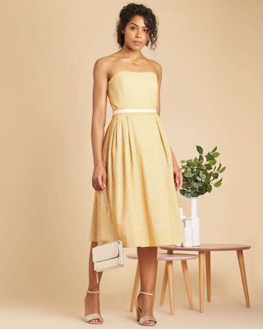 Iceberg yellow dress with embroidered bustier (1) - 1-2-3