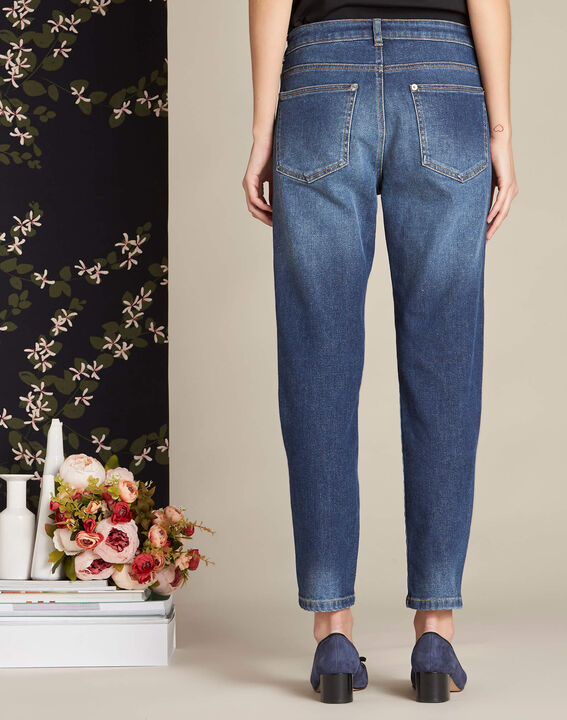 Rivoli 7/8 length indigo girlfriend jeans (4) - 1-2-3