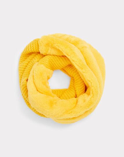 Gelber Loopschal aus Woll-Mix Tigresse (1) - 1-2-3