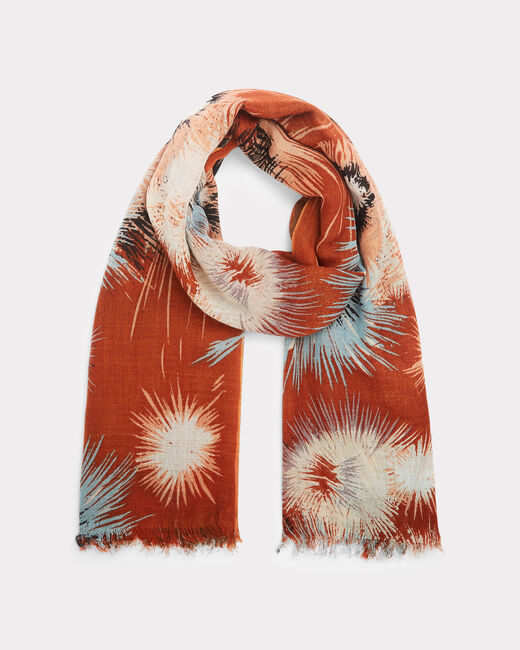 Exquis guava printed scarf (2) - 1-2-3
