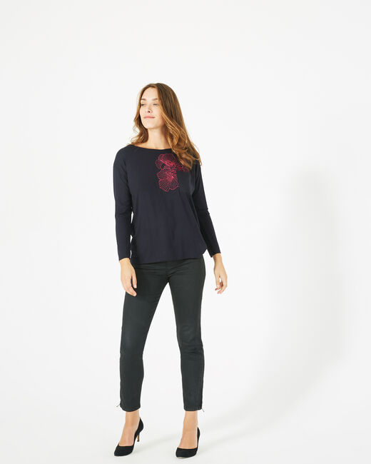 T-shirt broderie florale Bacchus (2) - 1-2-3