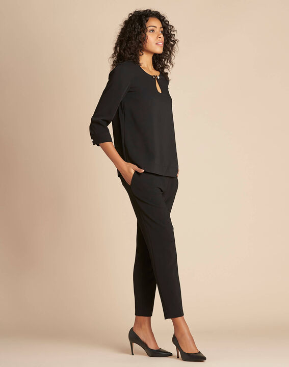 Gerry black blouse with jewel detail (3) - 1-2-3