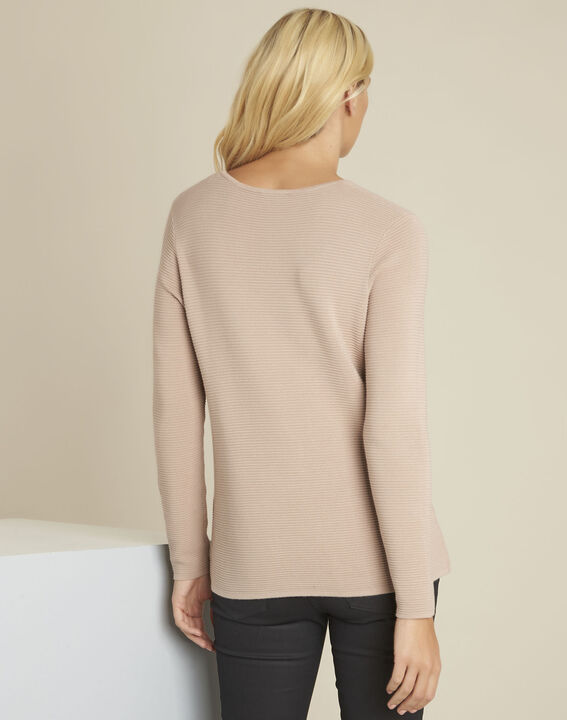 Blandine beige decorative knit pullover (4) - 1-2-3