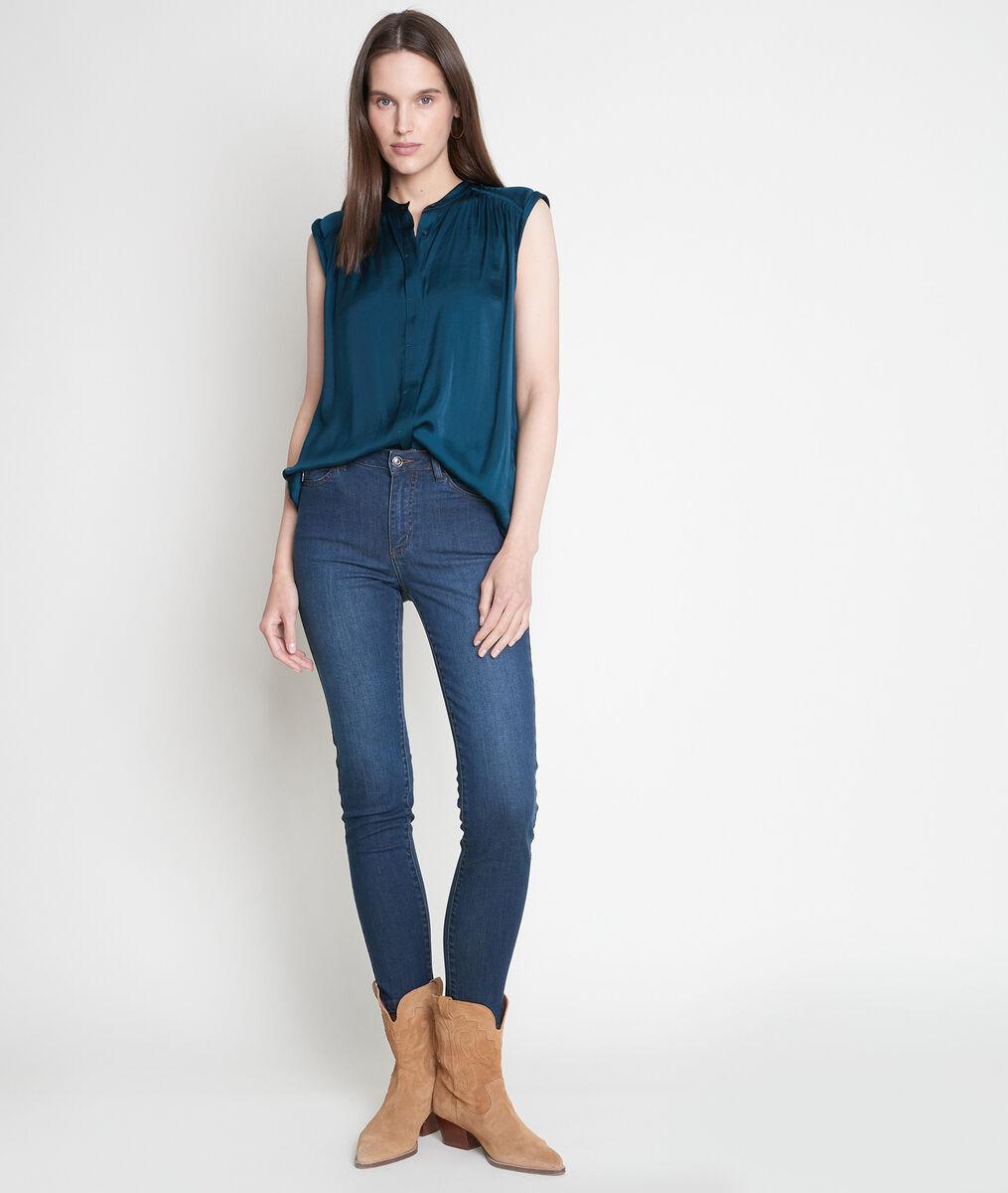 Jean slim taille haute en denim brut Nateo PhotoZ | 1-2-3