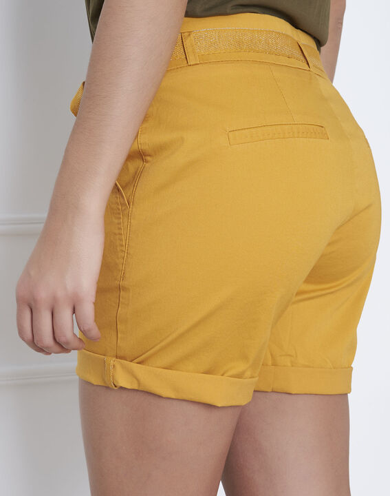 Short jaune coton ceinture James PhotoZ | 1-2-3