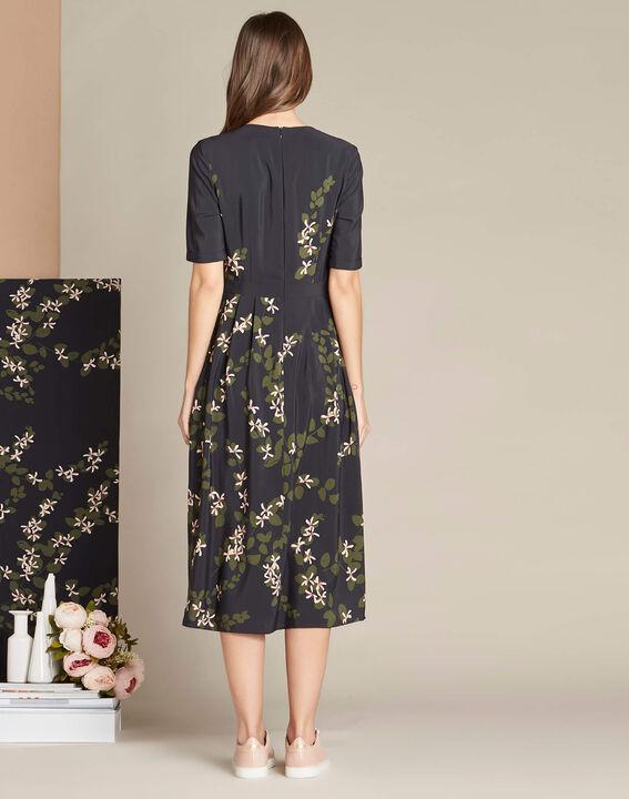 Langes Kleid mit Blumenprint Piment (4) - 1-2-3