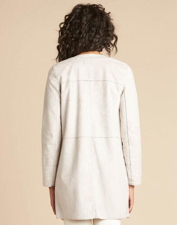 Fabiana shearling-style long ecru coat (4) - 1-2-3