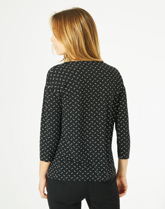 Tee-shirt noir à pois Bruna (5) - 1-2-3