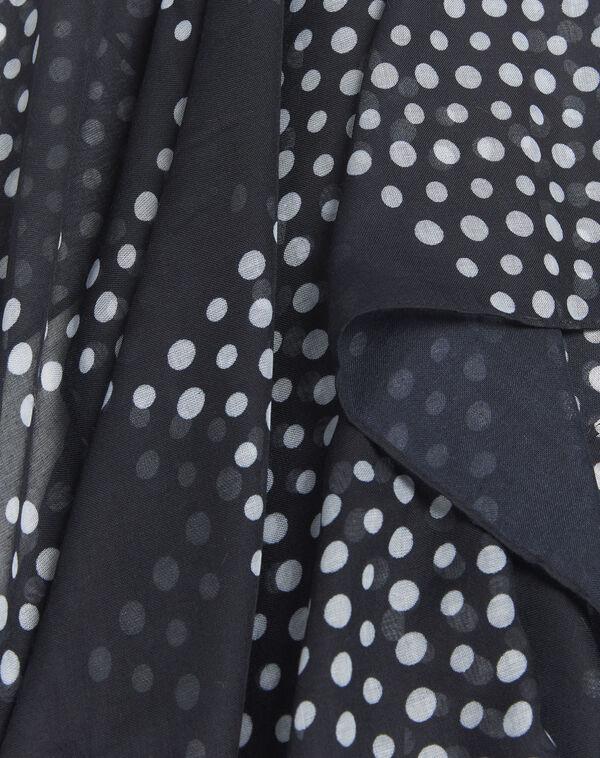 Donkerblauwe sjaal met stippen Fatrie (1) - 37653