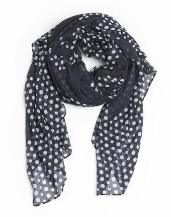 Fatrie navy blue polka dot scarf navy.