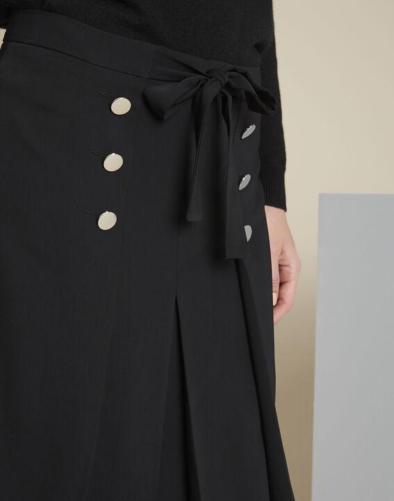 Zwarte rok met volants en zilverkleurige knopen Alix (3) - 37653