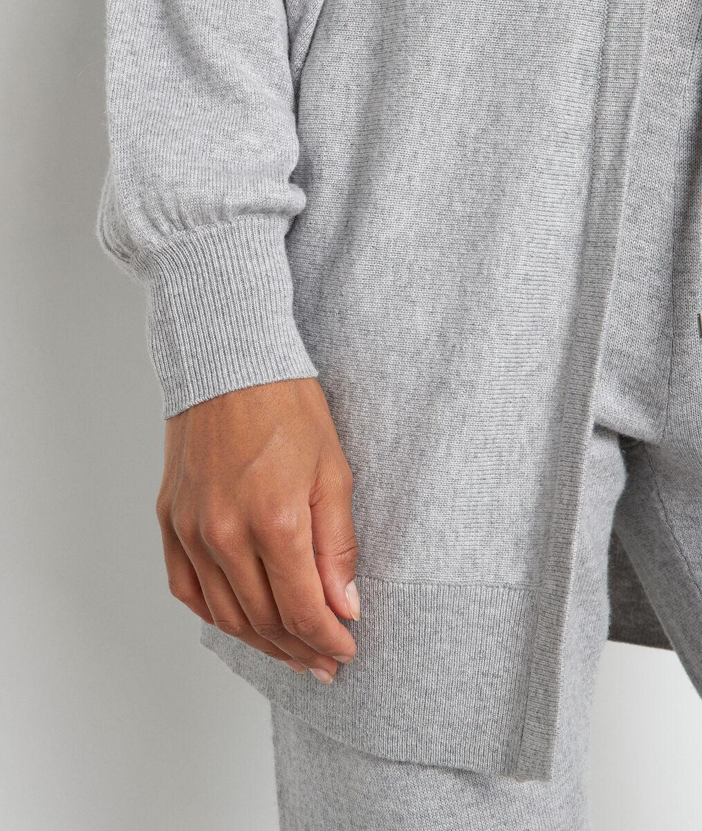 Lange grijs gechineerde cardigan Terence PhotoZ | 1-2-3