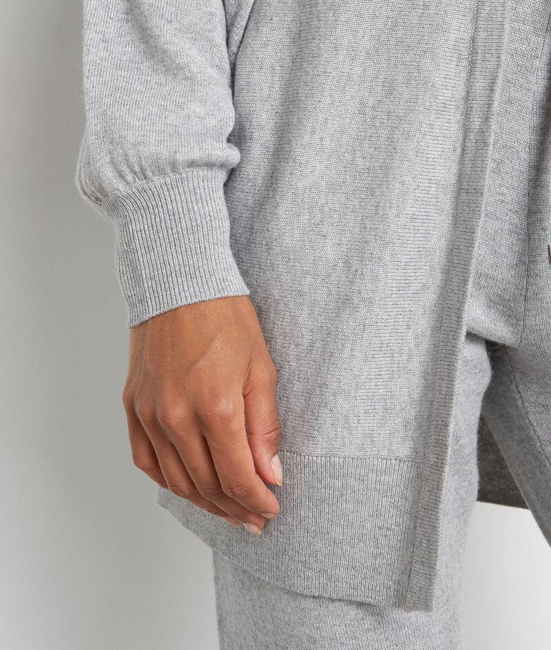 Cardigan long gris chiné Terence PhotoZ | 1-2-3