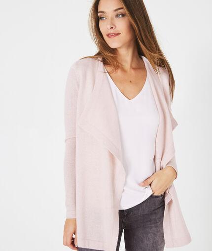 Mint Velvet Black Silk Waterfall Petra waterfall Cardigan coat Size 16 NEW