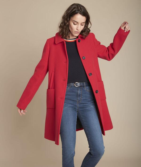 Manteau rouge en laine Terry PhotoZ   1-2-3