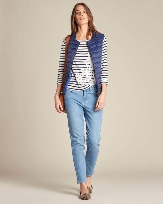 Yvanka navy blue sleeveless padded coat (1) - 1-2-3