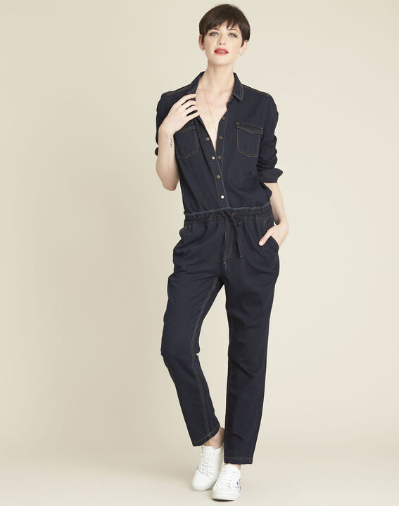 Helroy navy slim-cut drawstring trousers (2) - 1-2-3