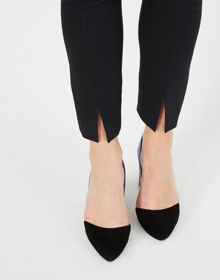 Grace black, tailored trousers with slits (3) - 1-2-3