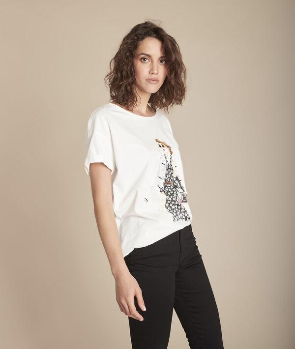 Tee-shirt sérigraphié en coton biologique Caroline PhotoZ | 1-2-3