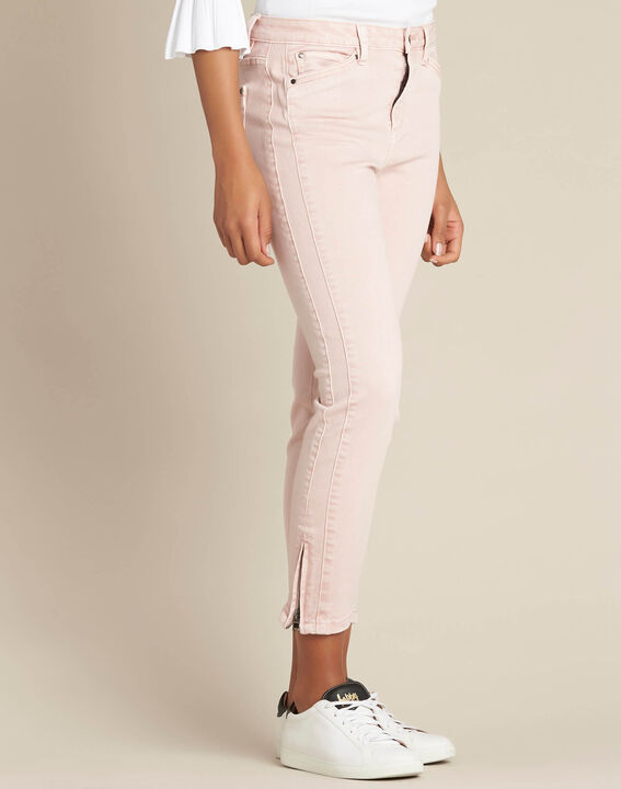 Opera slim-cut pink jeans with ankle zips (3) - 1-2-3