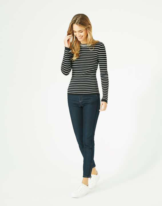 Parure black and white striped sweater in a stylish knit PhotoZ   1-2-3