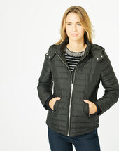 Louise black quilted jacket black.