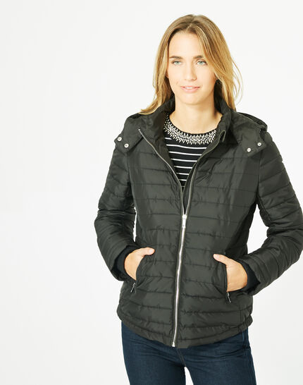 Louise black quilted jacket (1) - 1-2-3