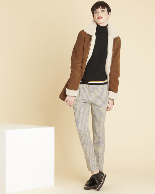 Halva check trousers with contrasting belt (1) - 1-2-3