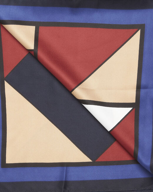 Foulard marine imprimé géométrique Follow (1) - 1-2-3