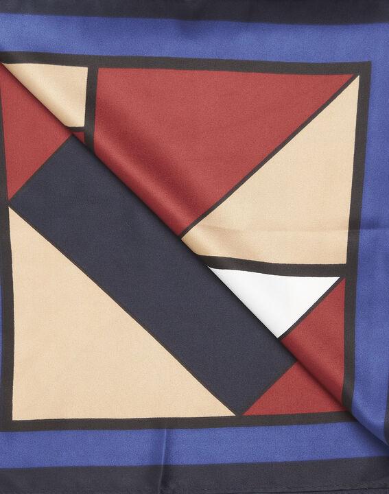 Marineblauer Schal mit geometrischem Druckmuster Follow (3) - 1-2-3