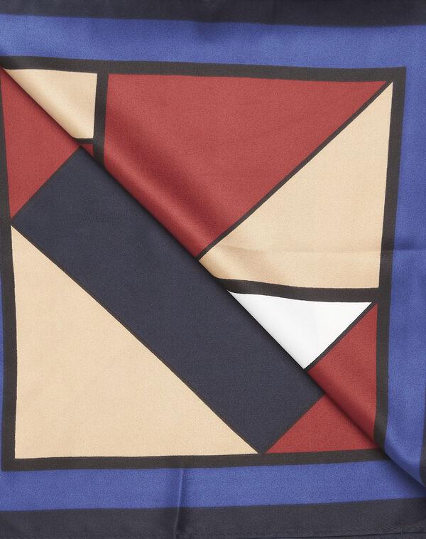 Donkerblauwe sjaal met geometrische print Follow (2) - 37653