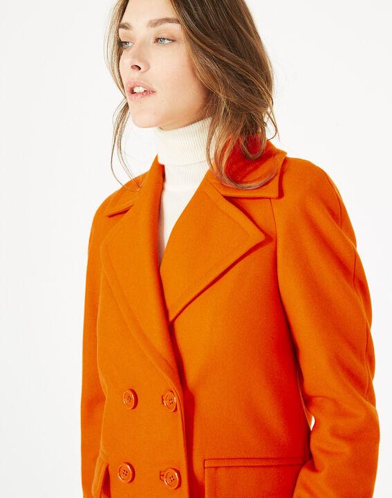 Manteau orange en laine Justin (4) - 1-2-3