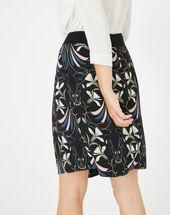 Dixie floral printed black skirt black.