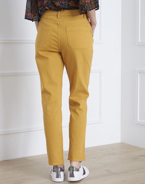 Jean jaune boyfriend 7/8e Coconut (4) - Maison 123