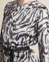 Camomille anthracite zebra print blouse (3) - 1-2-3