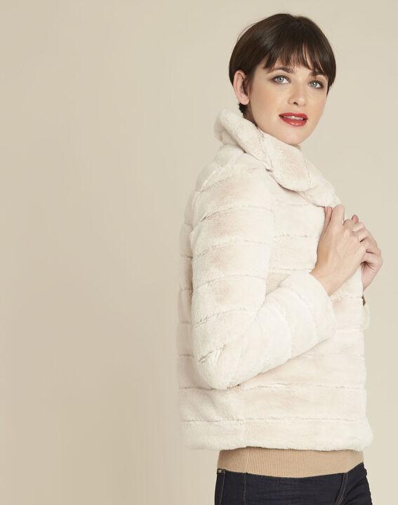 Laura ecru reversible faux fur jacket PhotoZ | 1-2-3