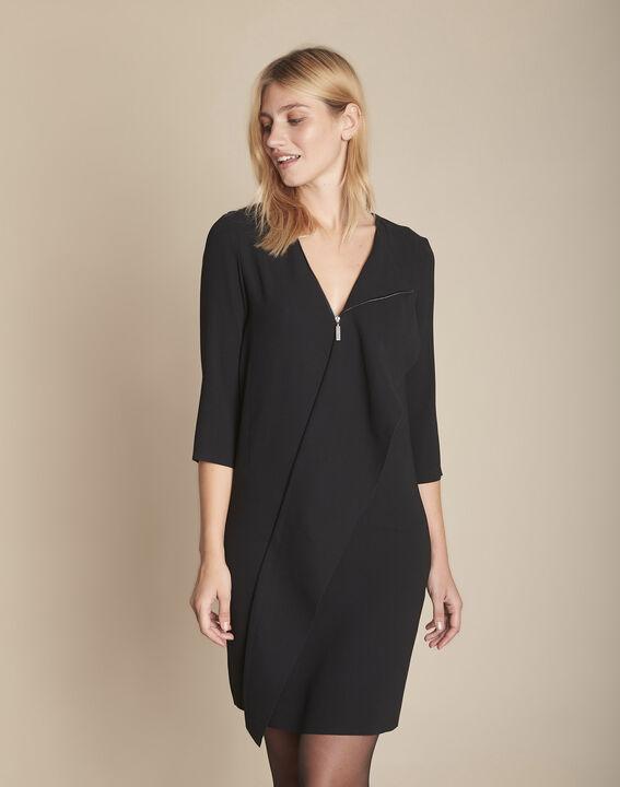 Robe noire à zip Irene PhotoZ   1-2-3