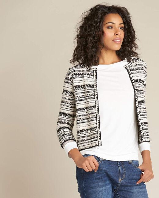 Nougat short jacquard pale pink jacket (2) - 1-2-3