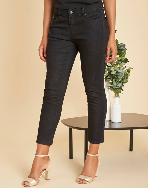 Schwarze 7/8-Slim-Fit-Jeans Turenne (3) - 1-2-3